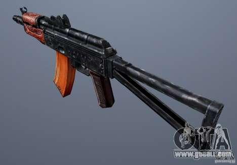 AKS74U for GTA San Andreas second screenshot