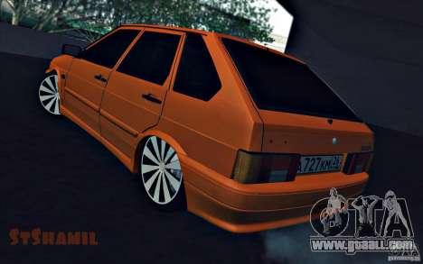 Ваз 2114 Juicy Orange for GTA San Andreas left view