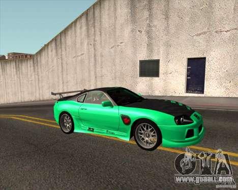 Toyota Supra ZIP style for GTA San Andreas