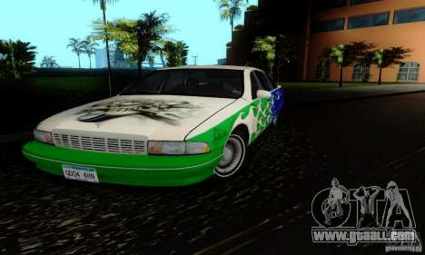 Chevrolet Caprice 1991 for GTA San Andreas inner view