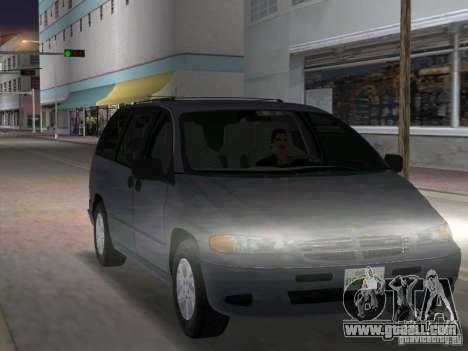 Dodge Grand Caravan for GTA Vice City back view