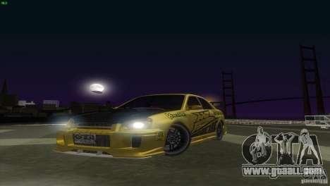 Subaru Impreza WRX No Fear for GTA San Andreas back left view