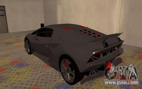 Lamborghini Sesto Elemento 2011 for GTA San Andreas right view