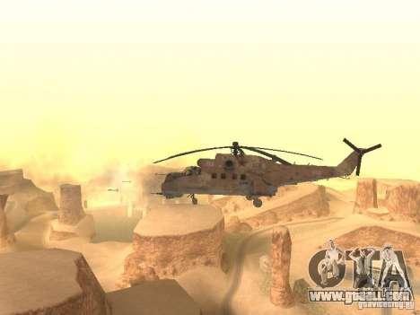 Mi-24 p Desert Camo for GTA San Andreas back view