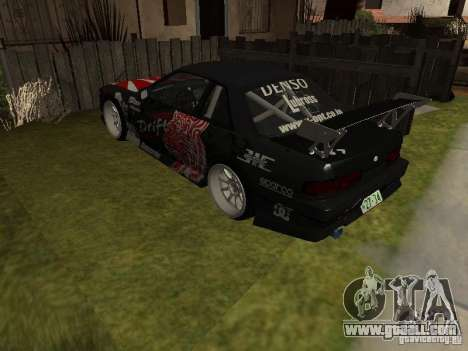 Nissan Silvia S13 JDM for GTA San Andreas back left view