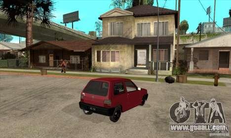 Fiat Uno Fire for GTA San Andreas right view