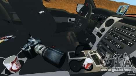 Ford F-150 SVT Raptor for GTA 4 interior