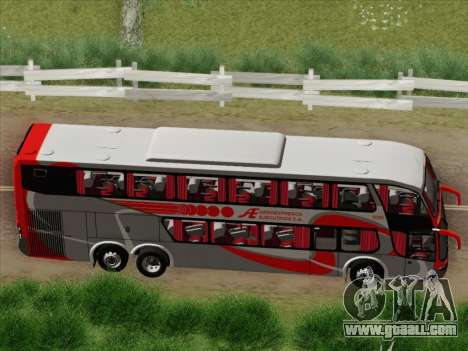 Marcopolo DD800 Volvo B12R for GTA San Andreas inner view