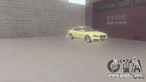 Audi S5 for GTA San Andreas inner view