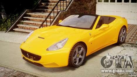 Ferrari California v1.0 for GTA 4