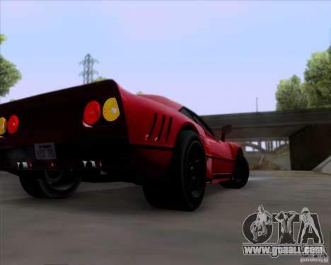 Ferrari 288 GTO for GTA San Andreas back view