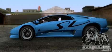 Lamborghini Diablo SV V1.0 for GTA San Andreas left view