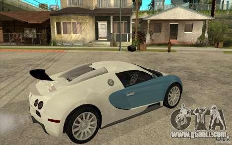 Bugatti Veyron Final for GTA San Andreas right view