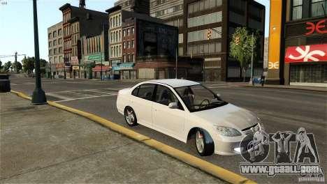 Honda Civic V-Tec for GTA 4 left view