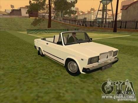 Vaz 2107 convertible for GTA San Andreas back view