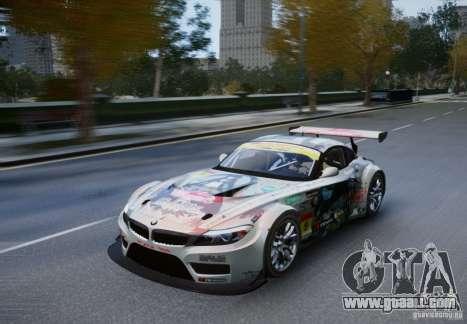 BMW Z4 GT3 2010 V.2.0 for GTA 4 back left view