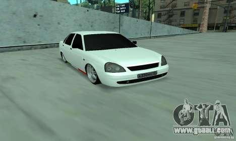Lada Priora Italia for GTA San Andreas left view