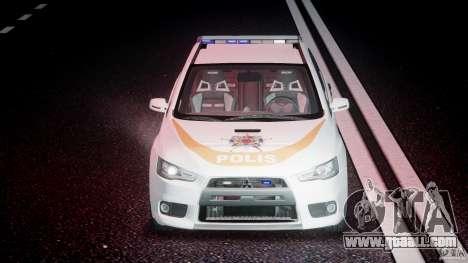 Mitsubishi Evolution X Police Car [ELS] for GTA 4 bottom view