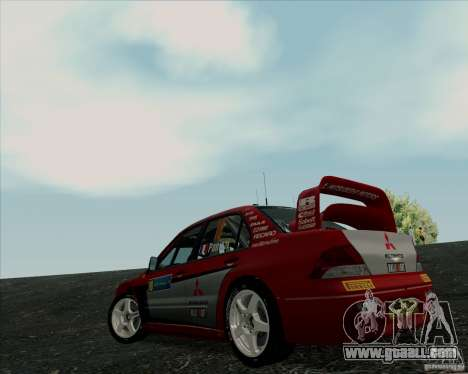 Mitsubishi Lancer Evolution VIII WRC for GTA San Andreas right view