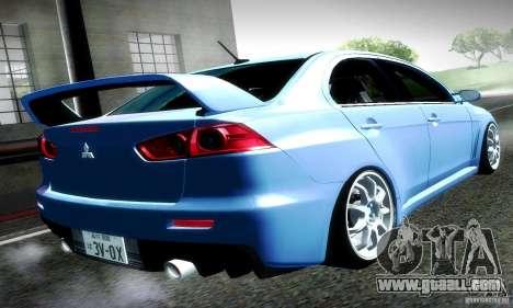 Mitsubishi Lancer Evolution X for GTA San Andreas left view