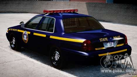 Ford Crown Victoria New York State Patrol [ELS] for GTA 4 right view