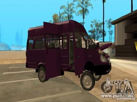 Gazelle 32213 taxi for GTA San Andreas inner view