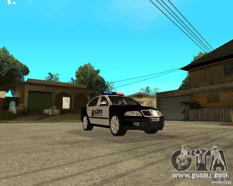 Skoda Octavia II 2005 SAPD POLICE for GTA San Andreas back view