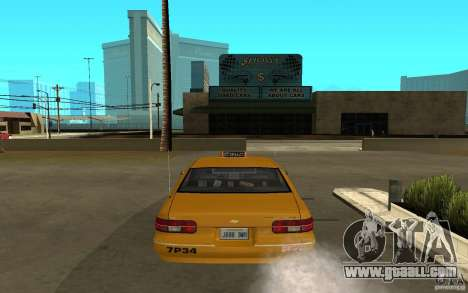 Chevrolet Caprice taxi for GTA San Andreas right view