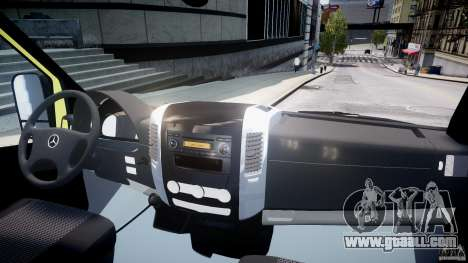 Mercedes-Benz Sprinter PK731 Ambulance [ELS] for GTA 4 right view