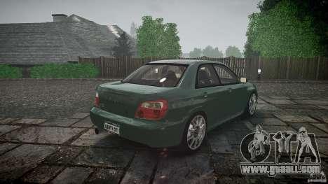 Subaru Impreza v2 for GTA 4 bottom view