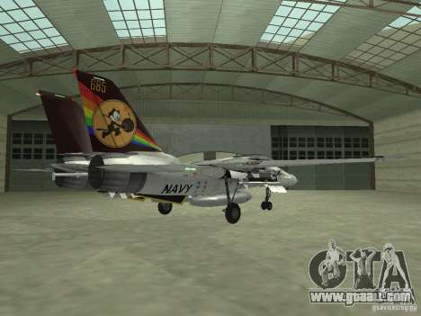 F-14 for GTA San Andreas back left view