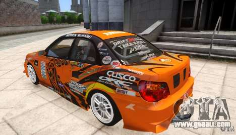 Subaru Impreza WRX STi GDB Team Orange for GTA 4 left view