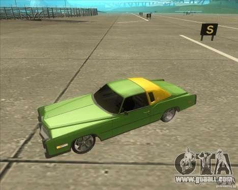 Cadillac Eldorado for GTA San Andreas interior