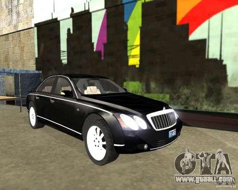 Maybach 57S for GTA San Andreas