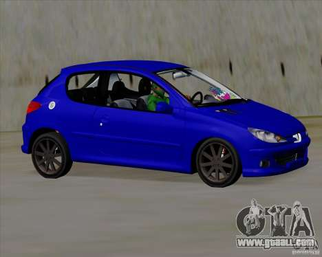 Peugeot 206 pollo style for GTA San Andreas left view