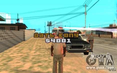 The Bribe for GTA San Andreas third screenshot