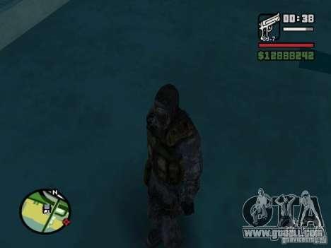 Stalker mercenary in the new kombeze for GTA San Andreas forth screenshot