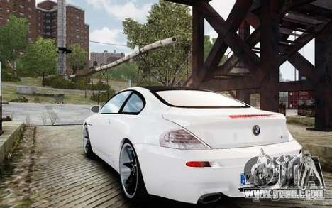 BMW M6 Coupe E63 2010 for GTA 4 back left view