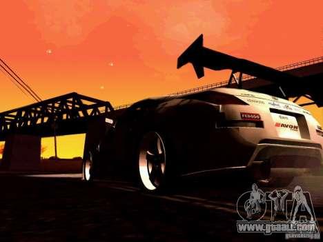 Nissan 350Z Avon Tires for GTA San Andreas inner view