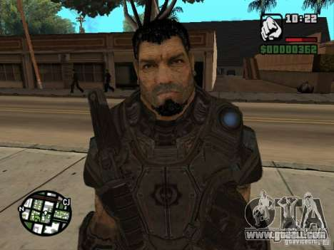 Dominic Santiago from Gears of War 2 for GTA San Andreas