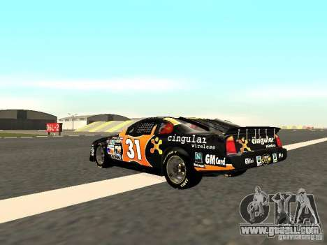Chevrolet Monte Carlo Nascar CINGULAR Nr.31 for GTA San Andreas back left view