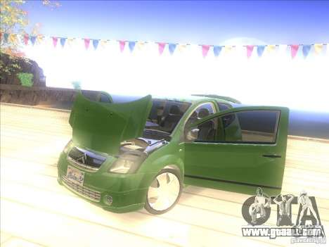 Citroen C2 for GTA San Andreas back view