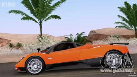 Pagani Zonda F for GTA San Andreas side view