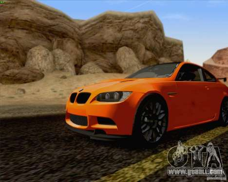 BMW M3 GT-S Fixed Edition for GTA San Andreas back left view