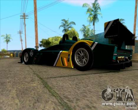 Caterham Lola SP300R for GTA San Andreas back left view