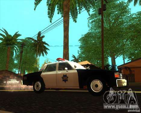 Chevrolet Caprice 1986 SFPD for GTA San Andreas left view