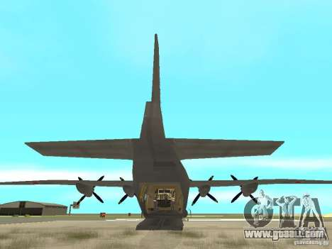 Antonov An-12 for GTA San Andreas back left view