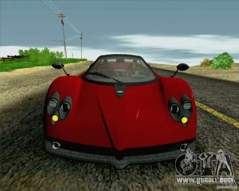 Pagani Zonda F v2 for GTA San Andreas side view