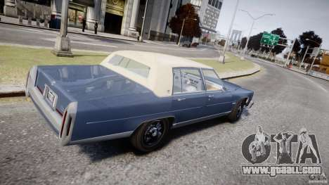 Cadillac Fleetwood Brougham 1985 for GTA 4 inner view