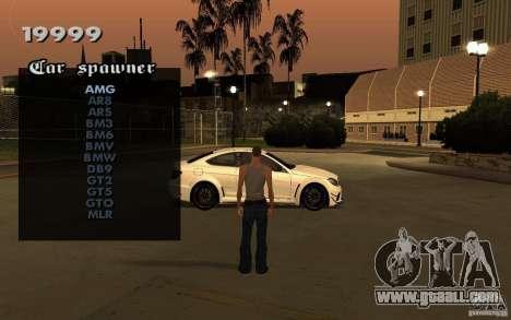 Vehicles Spawner for GTA San Andreas